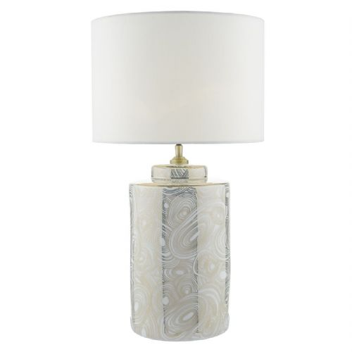 Ayesha Table Lamp White Gold Base Only